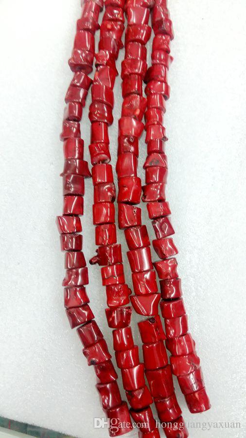 أحمر المرجان حبة NECKLACE الطبيعي 15