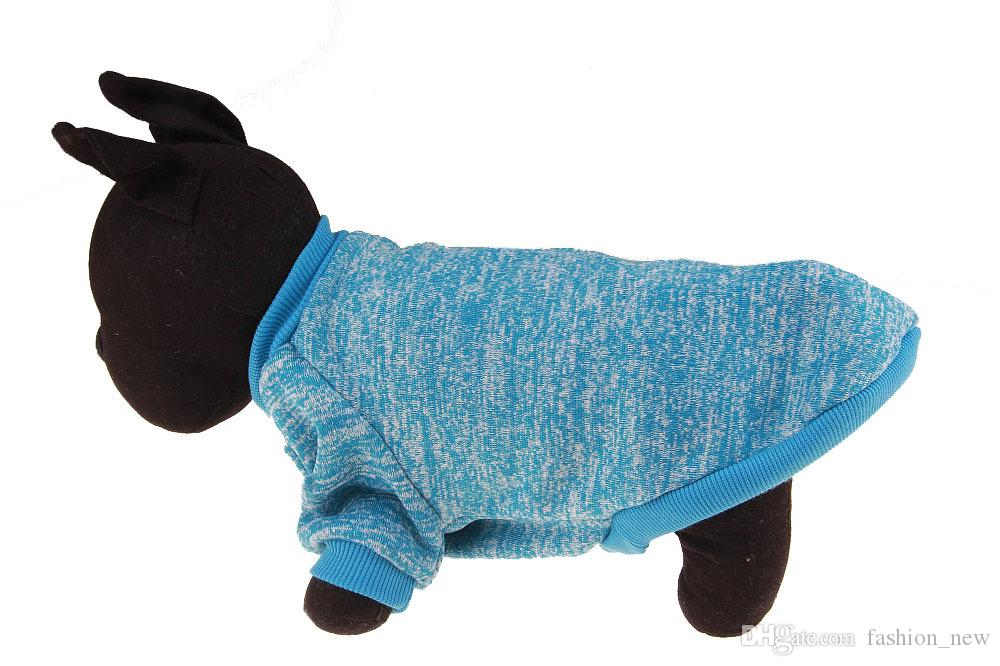 Factory Price Warm Dog Clothes Puppy Pet Cat Jacket Coat Winter Fashion Soft Sweater Clothing For Small Dogs Chihuahua XS-2XL Free DHL