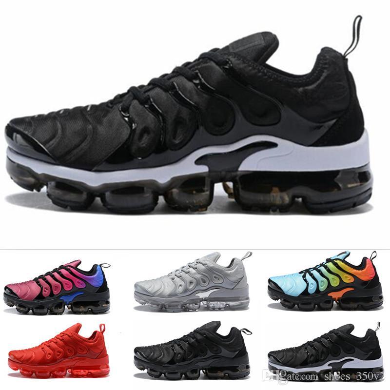 quality design bb855 2afa1 Acquista Nike TN Plus Vapromax Zebra Vapormax TN Plus Scarpe Uomo Scarpe  TRIPLE NERO Nero Rosso Cool Grigio Casual Scarpe Da Uomo Pack Triple Nero Scarpe  Da ...