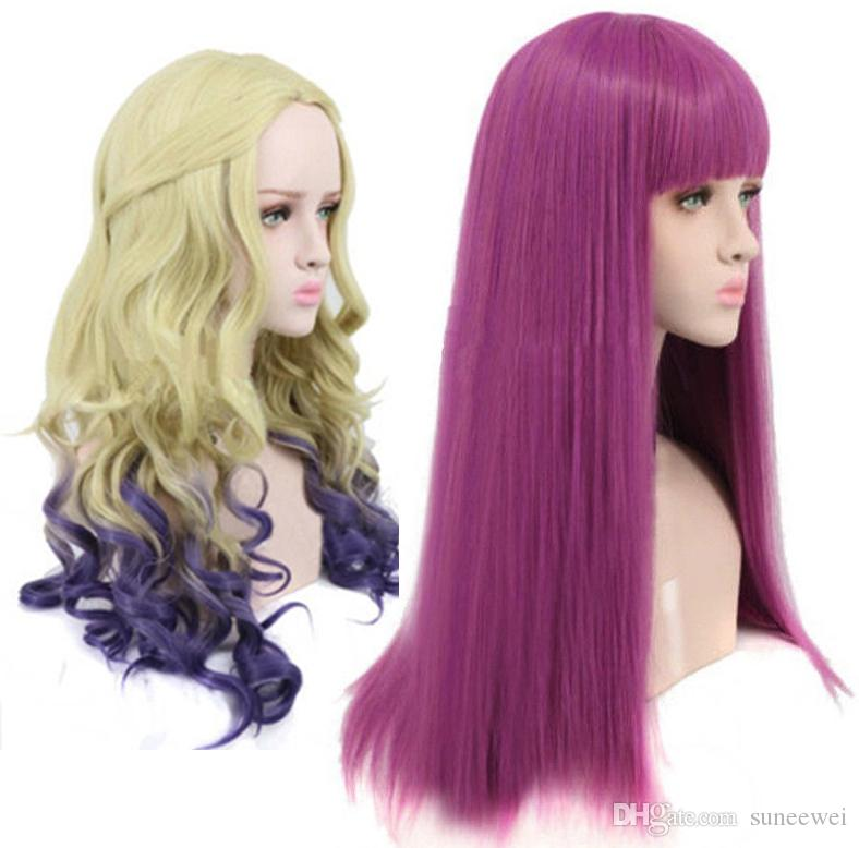 Descendants 2 Mal Cosplay Wig Synthetic Fashion Costume Wigs UK 2019 From  Suneewei 505ac9e0bb12
