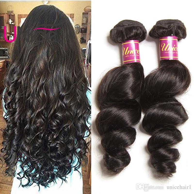 Unice Hair Wholesale Remy 8a Brazilian Loose Wave Hair Bundles 100