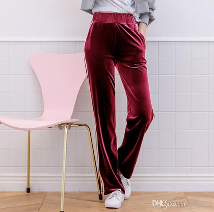 52d9a8a57a 2019 Velvet Trousers Designer New Autumn Winter Wide Leg Fashion Women Pants  From Cinda02, $20.11 | DHgate.Com
