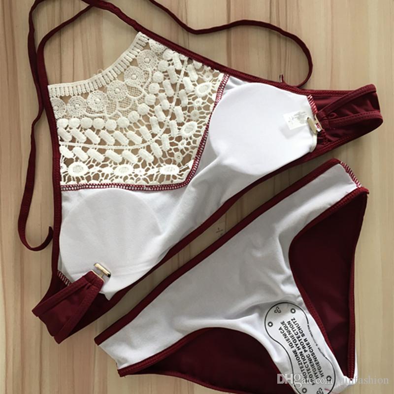 Push Up Swimwear Female 2018 Summer Women Sexy Bikini Set Lace Swimsuit Beachwear Bathing Suit Brazilian Biquini