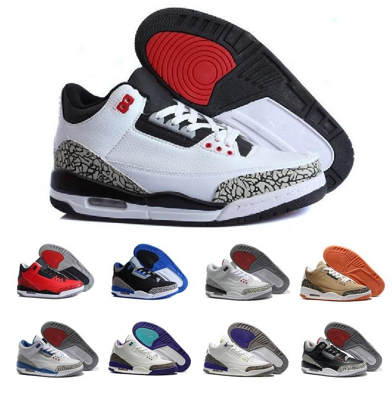 13520a2aff5ece Hot 3 White Cement Black Cement Wolf Grey Metallic Wholesale Men Basketball  Shoes Accepted Euro 40 47 Youth Shoes Kids Athletic Shoes On Sale From  Screaming ...