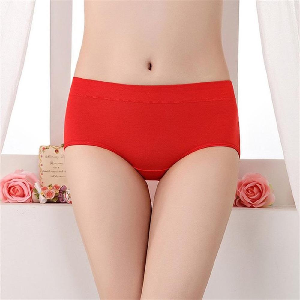 d487b1cd3 Compre Ano Mulheres Calcinha Vermelha Modal Respirável Médio Cintura  Quadril Briefs Senhora Algodão Pele Friendly Cuecas Elásticas 2018 Novo De  Tielian
