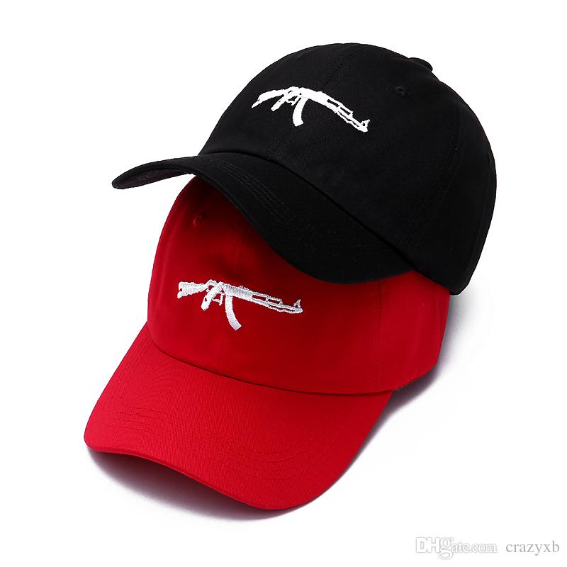 Top Selling Uzi Gun Baseball Cap US Fashion 2018 Ak47 Snapback Hip ... 61335709b864