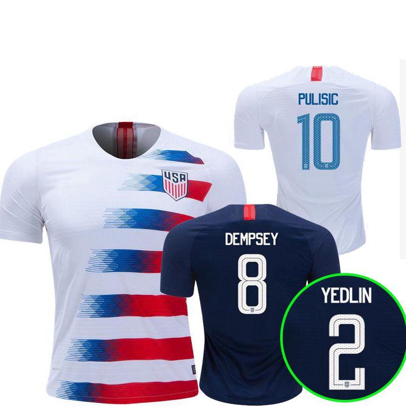 3a26c6434 Compre 2018 2019 EUA PULISIC Camisa De Futebol 18 19 DEMPSEY BRADLEY  ALTIDORE MADEIRA América Camisas De Futebol Estados Unidos Camisa Camisetas  De ...