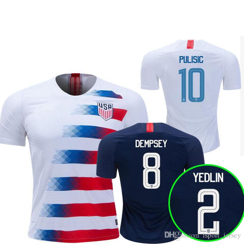 57ba72fa86a 2019 2018 2019 USA PULISIC Soccer Jersey 18 19 DEMPSEY BRADLEY ALTIDORE  WOOD America Football Jerseys United States Shirt Camisetas Thai Quality  From ...