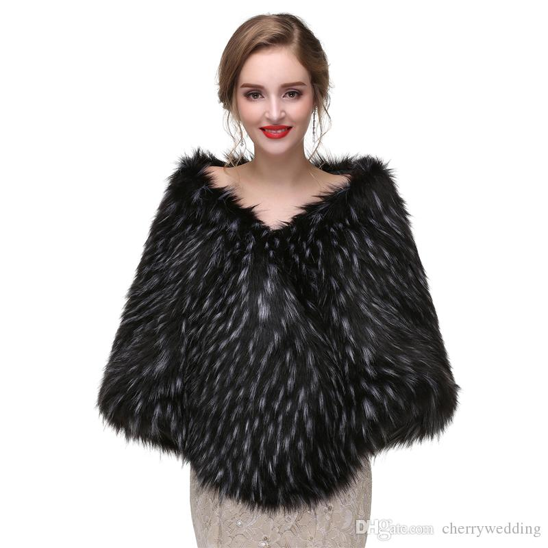 647d96cb880fe 2019 CMS07 2017 Charming Soft Stole New Faux Fur Wrap Cape Stole Shawl  Cover Up Wedding Bolero Jacket From Cherrywedding, $56.28 | DHgate.Com