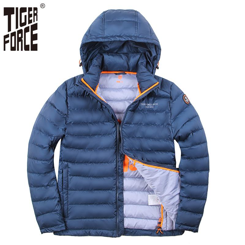 89a08bd8db6b 2019 TIGER FORCE Men Winter Jacket Polyester Coat Bio Based Cotton Jacket  Fashion Men'S Jacket Winter Autumn Male Hooded Outerwear S18101803 From  Xingyan01, ...
