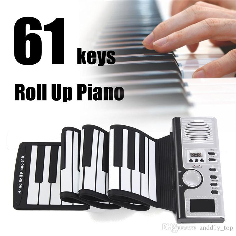 61 Keys Flexible Synthesizer Mano Roll up Roll-Up Portable USB Soft Keyboard Pianoforte MIDI Build in Speaker Piano elettronico