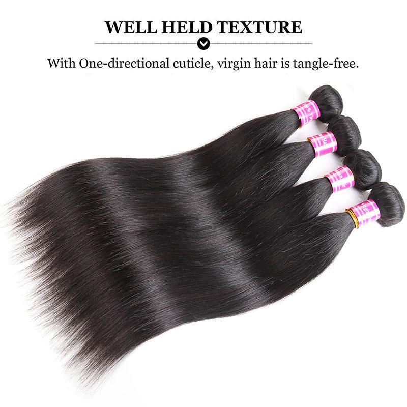 폐쇄 정면 레이스 머리를 가진 정면 직선 바디 웨이브 번들로 물 웨이브 깊은 웨이브 저렴한 브라질 변태 곱슬 인간의 머리 4 번들