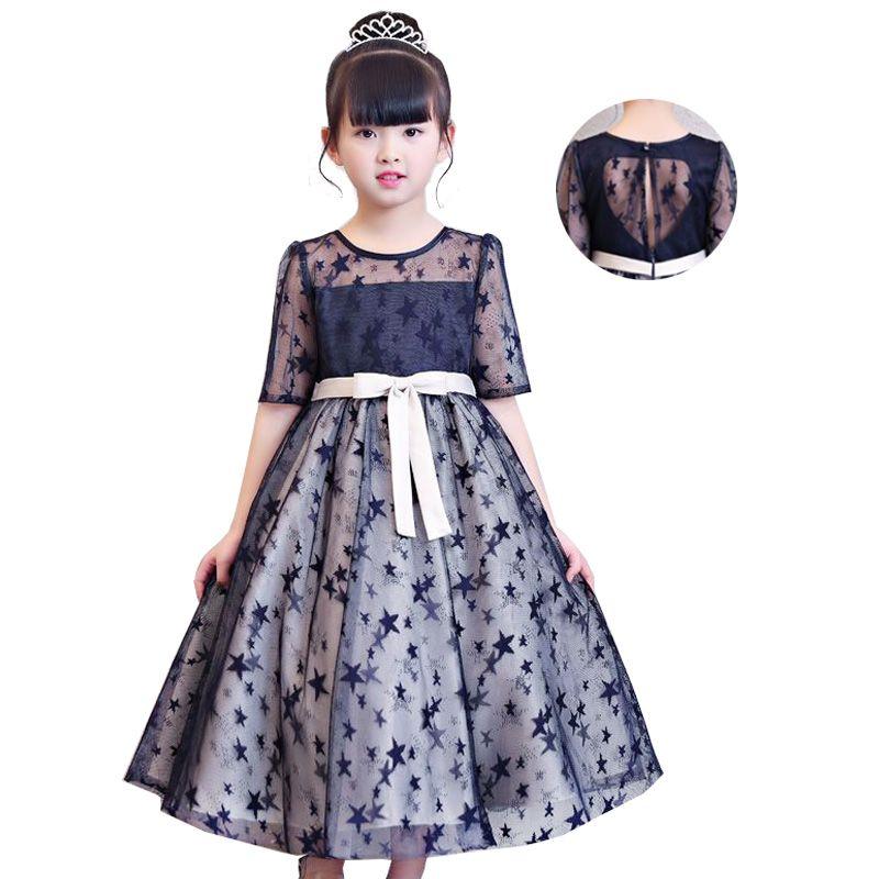 59bf99b09 Flower Girl Princess Party Dresses 2018 Children Clothing Birthday ...