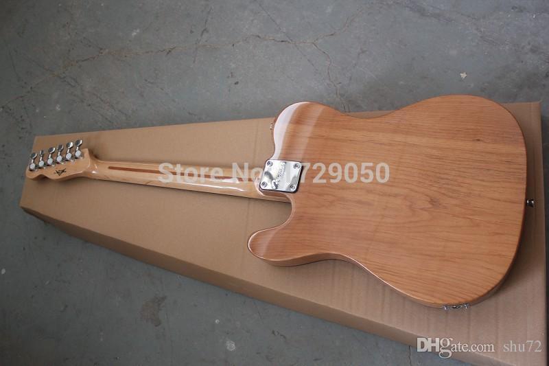 الصين مصنع الغيتار مخصص 2015 جديد جديد الصلبة الجسم اللون الطبيعي القيقب الخشب أعلى شبه الجوف f هول الجاز TL الغيتار الكهربائي 1221