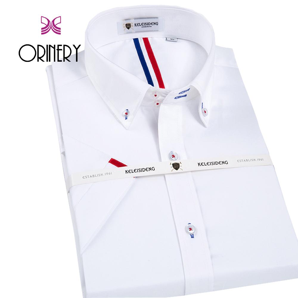 2019 Orinery Hot Sale Summer Style Short Sleeve Mens Dress Shirt 100