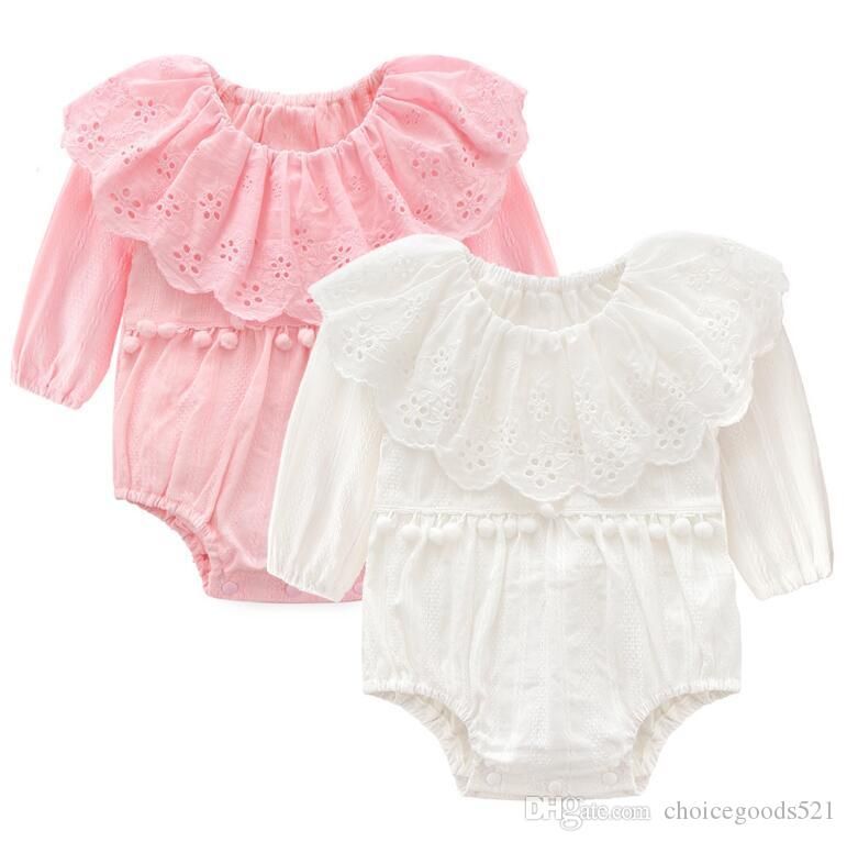 98e9794d9 2019 Infant Rompers Baby Kids Hollow Triangle Jumpsuit Autumn Long ...