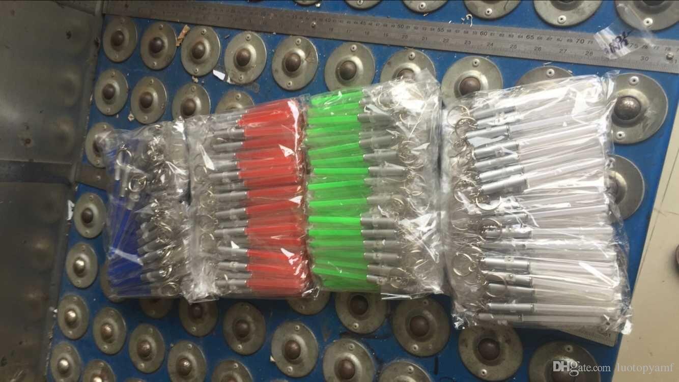 LED lanterna vara keychain mini tocha de alumínio chaveiro chaveiro durável brilho caneta magic wand vara sabre de luz led luz vara