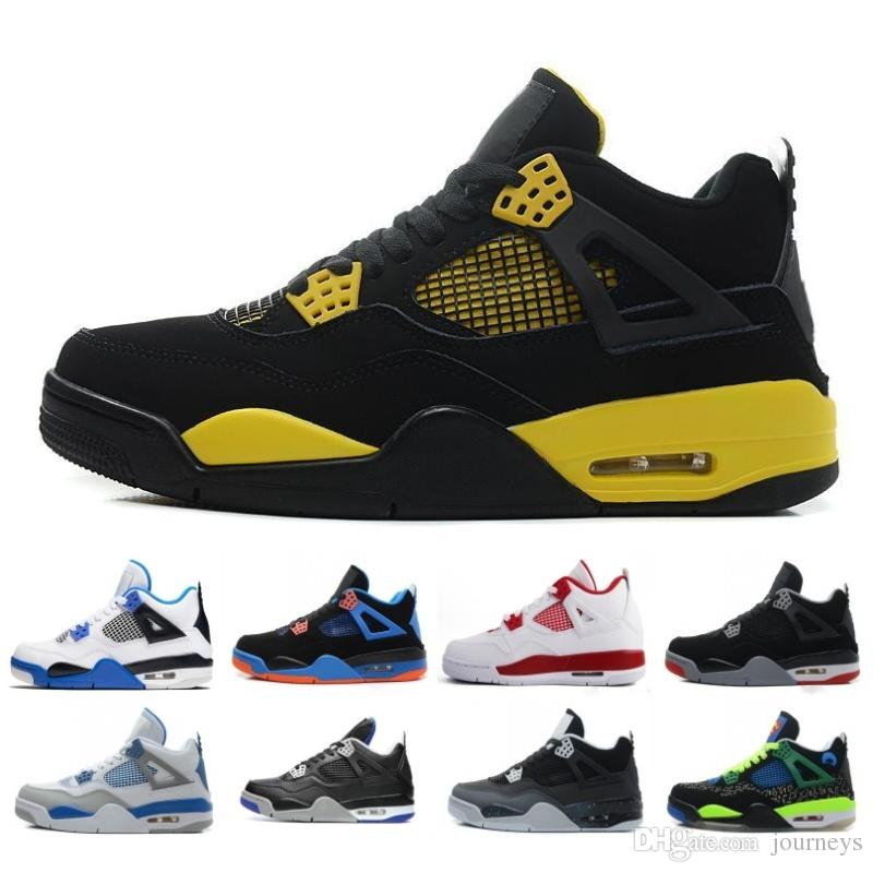 f812aa58a89800 2018 New 4 OG Mens Basketball Shoes 4s Black Gold Royalty White ...