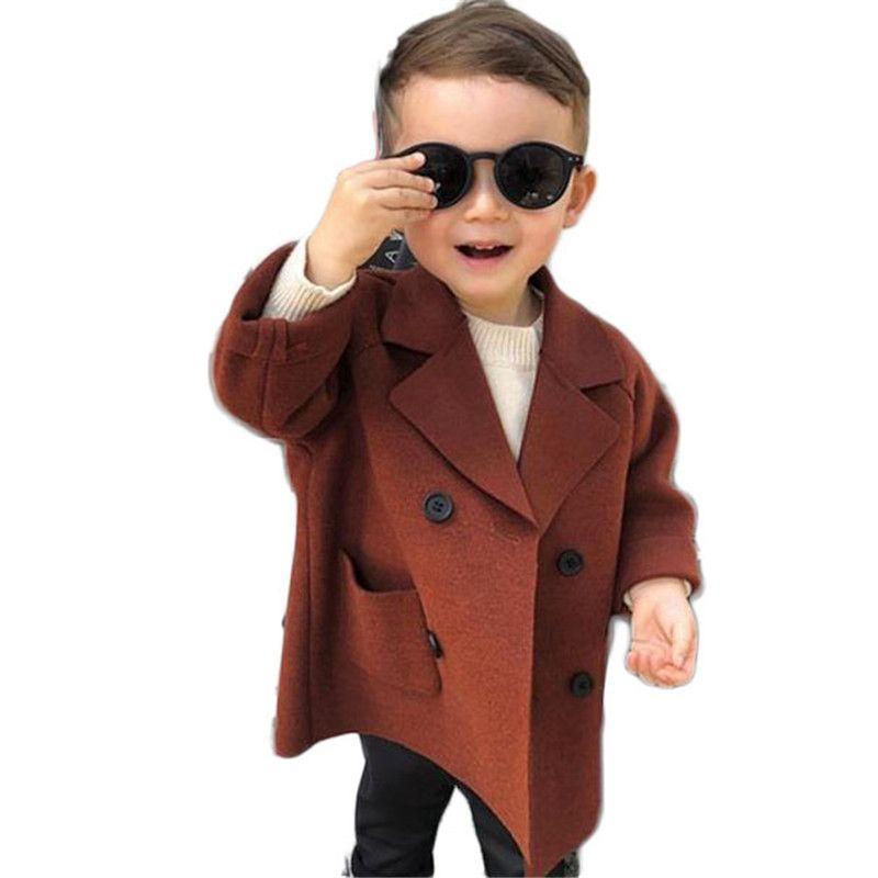 fcfd242ea New Autumn Winter Boys Coat Kids Wool Coats Boys Jackets Children ...