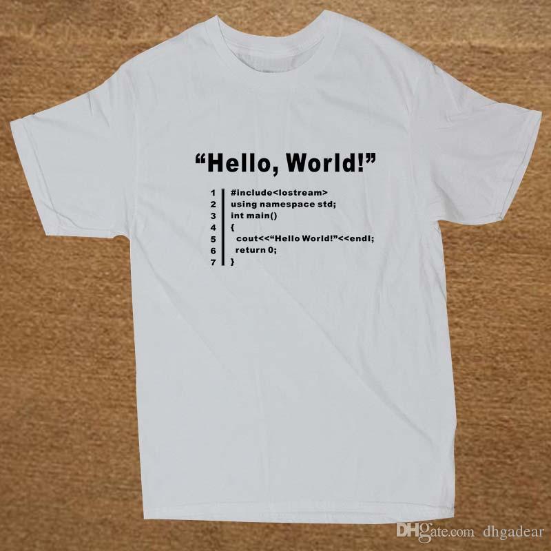 0499005e HELLO WORLD Geek Team Programmer Unisex Funny T Shirt Tshirt Men Cotton  Short Sleeve T Shirt Top Tees This T Shirt T Shirts Best From Dhgadear, ...