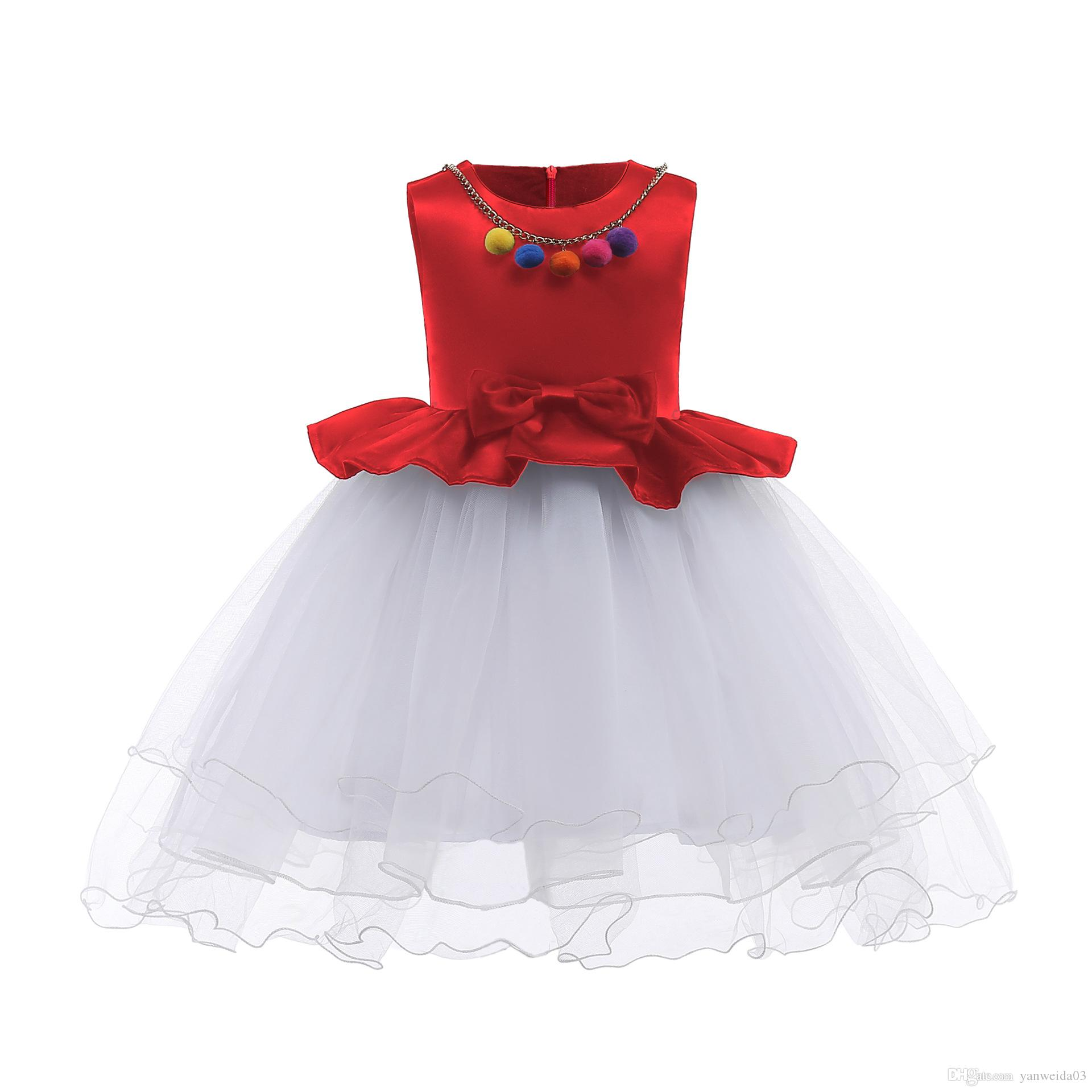 a846eaa19 Compre Vestido De Fiesta Para Niñas Falda De Hilados De Seda De Bud Para  Niños Vestidos De Niñas Para Bodas La Falda Princesa El Estilo Europeo Y  Americano ...