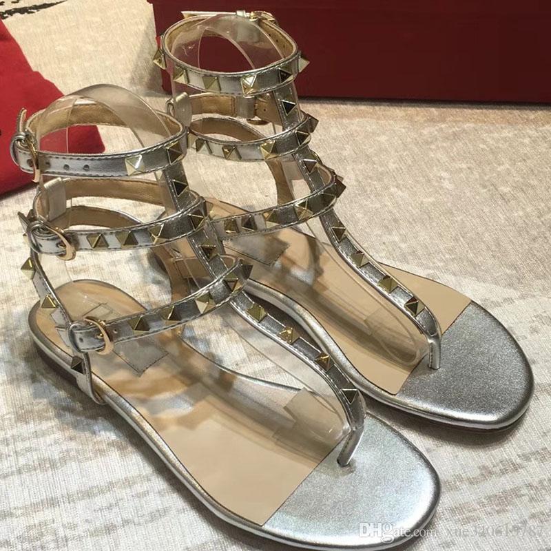 2018 neue mode sommer frauen high heel sandalen flache sandalen bogen niet mode kristall strand schuhe