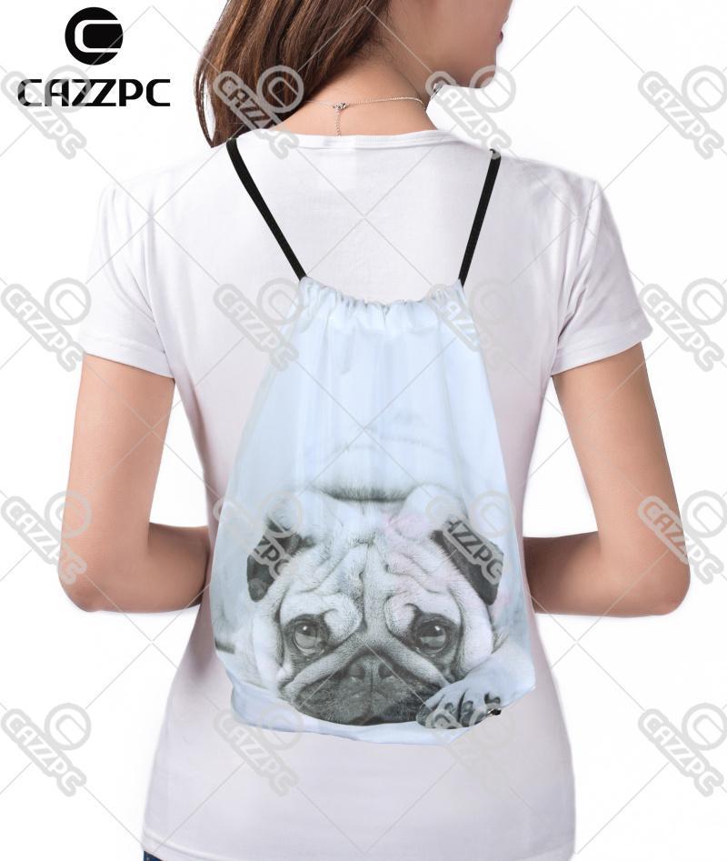 Amante dulce Piña Impresión de frutas y pizza Mochila con cordón de compras Saco de viaje Zapatos Bolsa de regalo mochilas feminina