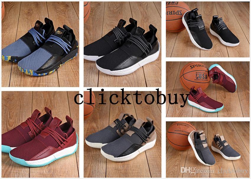 sports shoes da885 dee7d Acheter Harden Ls 2 Lace Chaussures Dextérieur Life Style Harden Chaussures  B28170  Bb7651 Vin Rouge Noir Gris Bleu Lebron James Chaussures Sizeus7  Us12 ...