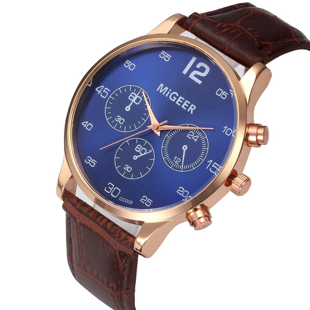 443135d72eb Compre MiGEER Relógios Homens Big Dial Analógico Quartz Relógio De Pulso  Womens Dial Design Pulseira Relógios Relogio Masculino De Luxo De Harrieta