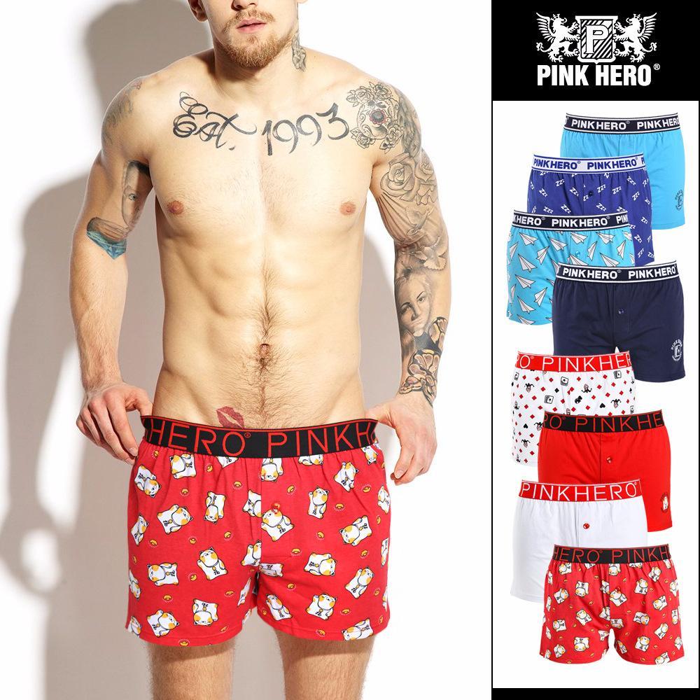 Pink Hero Men Underwear Boxers Loose Comfortable Pure Cotton Boxers Men  Underwear Printing Sexy Shorts Panties Boxer Men 1279 UK 2019 From  Johnnyyan 338ecb6b7