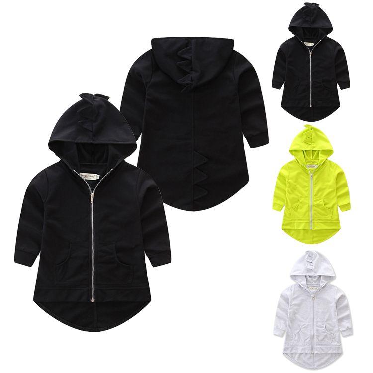 ad28b487c Kids Boys Girls Dinosaur Coat Animals Jacket Coat Hoodies Outerwear  Toddlers Hoodies Children Clothes Sportwear LA569-2