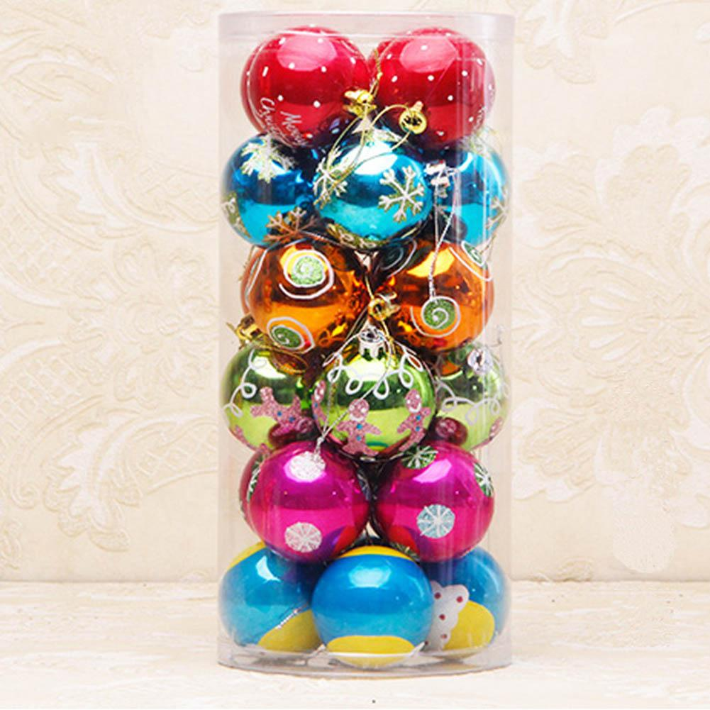 Sophisticated Christmas Tree: /Set 6cm Modern Christmas Tree Ball Baubles Xmas Party