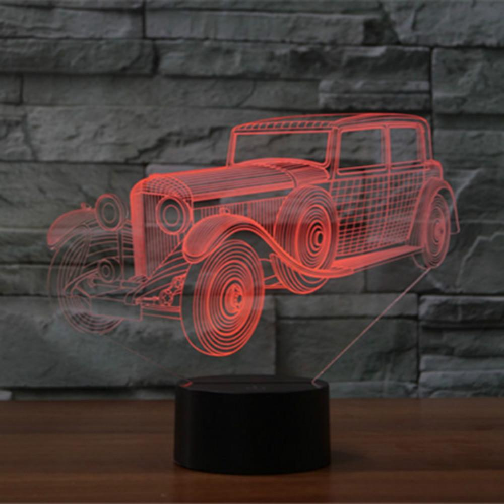 3D Light Decoration Light Car Tractor Shape USB Charge Touch Switch Lamp 7 Colorful Kids NightLight Hot Novelty Gifts Wholesale Dropshipping