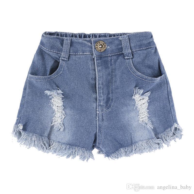 2018 New Baby Girls Moda Set Abacaxis Impresso Tops Camisa + Shorts Jeans Roupas Crianças Roupas de Verão Bonito Do Bebê Meninas Roupas conjunto