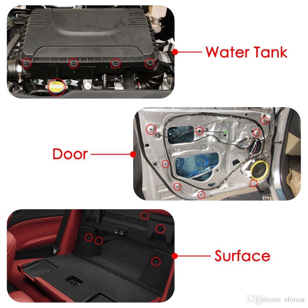 Clip automatiche universali con dispositivo di rimozione dispositivi di fissaggio Assemblaggio automobilistico setole di fissaggio del supporto in nylon e plastica i modelli delle serie U.S.