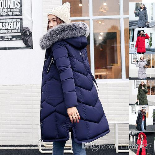 6a0135cb8a237 2019 2018 New Womens Ladies Long Winter Coat Padded Quilted Puffa Jacket  Fur Hooded Down Parka Snow Coat Plus Size Outwear From Lili880827, $54.96 |  DHgate.
