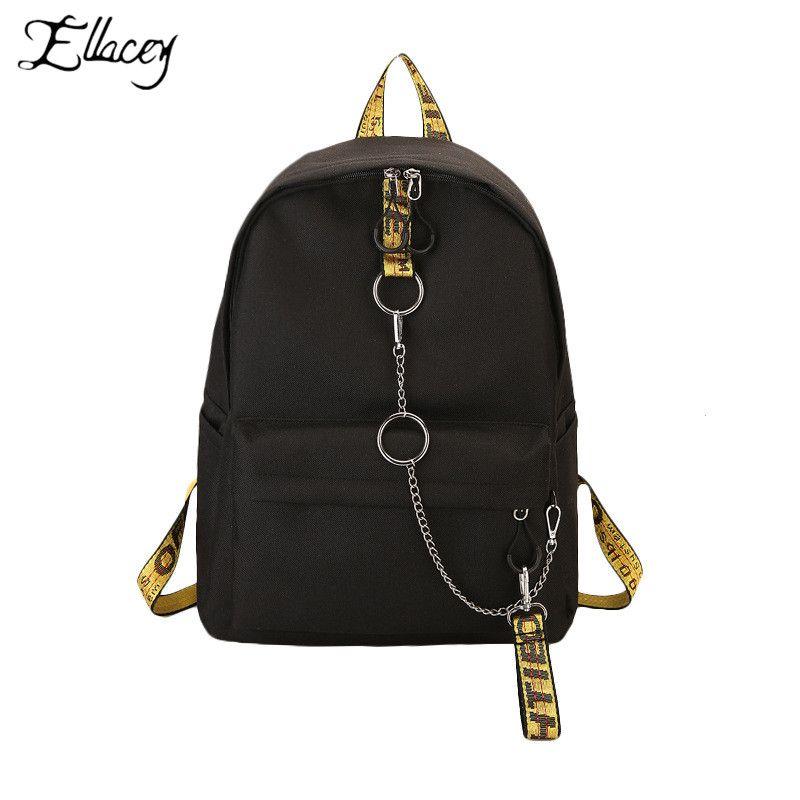 02efe4158dfe Ellacey Fashion Waterproof Fabric Women Backpack Lovers Travel Knapsack  Korean Personality Design College Girls Bookbags Bagpack Bookbags Backpack  Purse ...