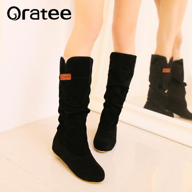 Women Girls Fashion Shoes Autumn Winter Boots Ladies Sexy Sweet Outdoor Boot  Stylish Flat Flock Shoes Snow Boots Botas Planas Combat Boots Rain Boots  From ... 64365892b92f