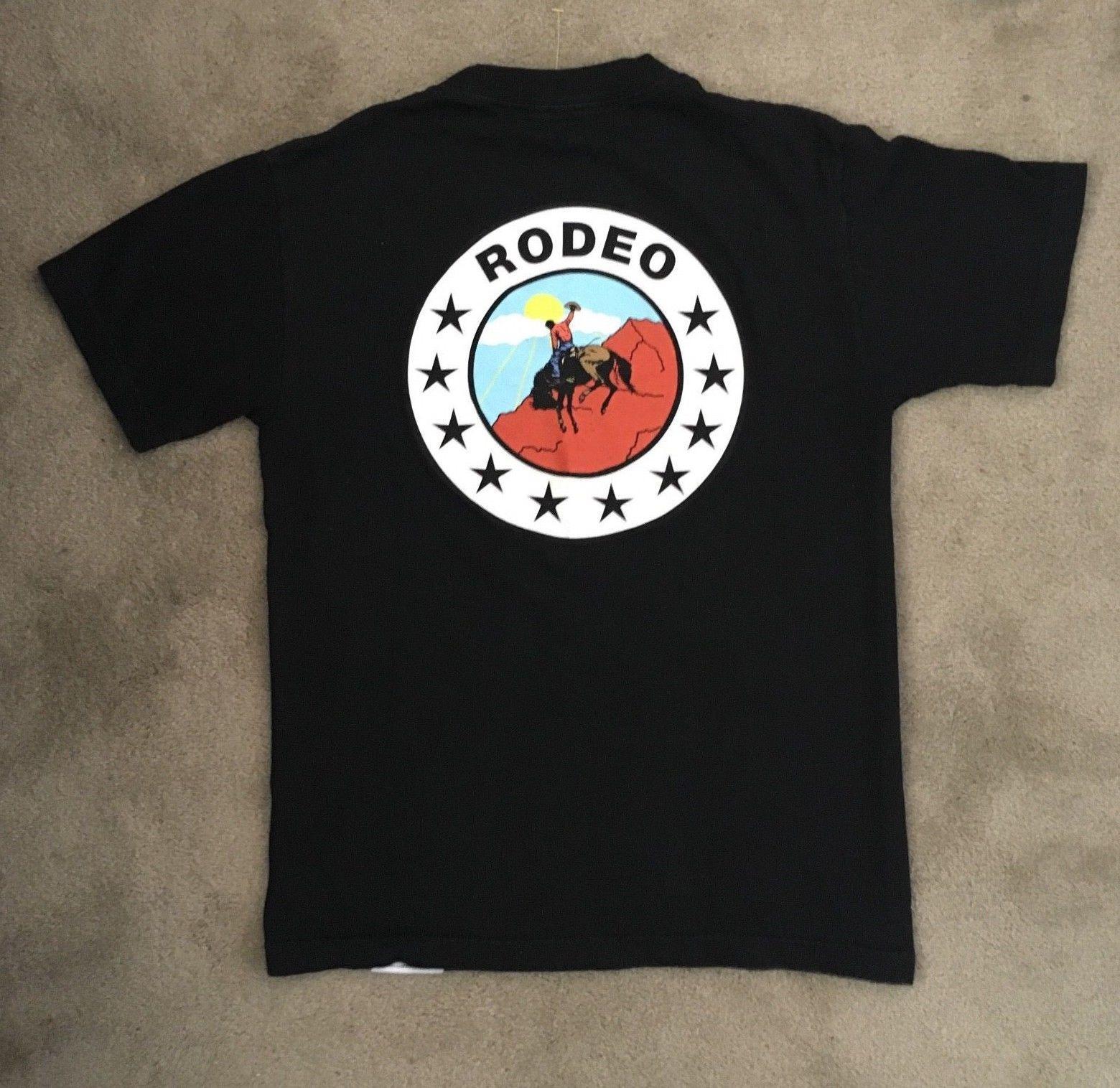 d9703ef1666d Détails Sur Travis Scott X Diamond Supply Rodeo T-shirt Black S Rare ...
