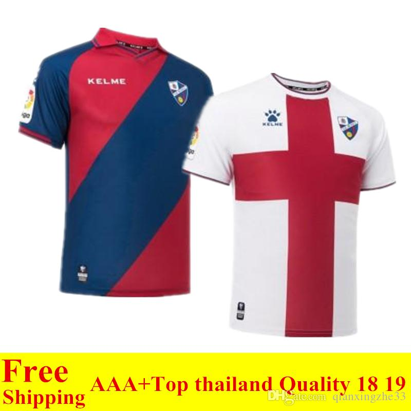 6a7099d941 2018 2019 Top Thai Quality SD Huesca Jersey 18 19 Home Away LEO ...