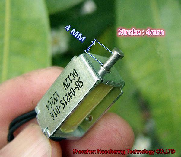 새로운 DC12V 마이크로 전자석 스트로크 4mm 10 * 11 * 21mm의 푸시 풀 솔레노이드 오픈 프레임 솔레노이드 ~