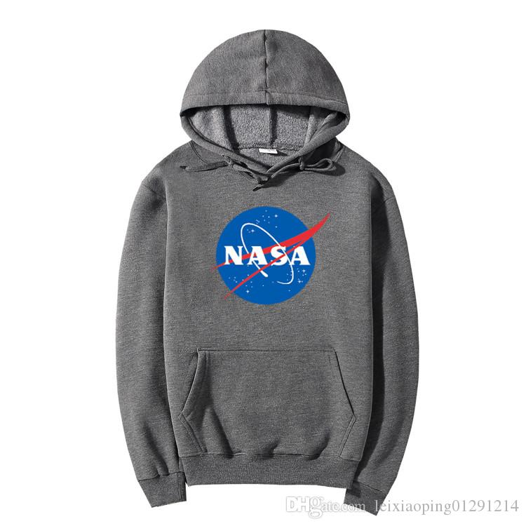 NASA Hoodie Streetwear Hip Hop Khaki Black gray pink white Hooded Hoody Mens Hoodies Sweatshirts Plus Size XXL 11