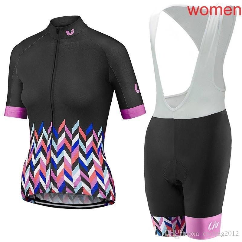 2018 Merida liv Women cycling clothing set short sleeves cycling jersey bib short kit maillot culote ropa ciclismo F2116