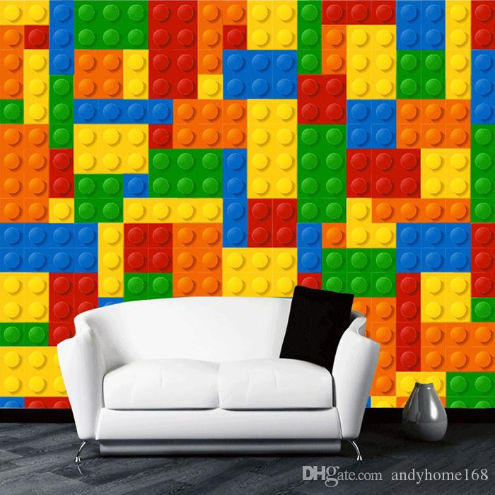 Swell Custom Size 3D Wall Murals Wallpaper For Living Room Lego Bricks Childrens Bedroom Toy Store Non Woven Mural Wallpaper Decor Colour Wallpapers Squirreltailoven Fun Painted Chair Ideas Images Squirreltailovenorg
