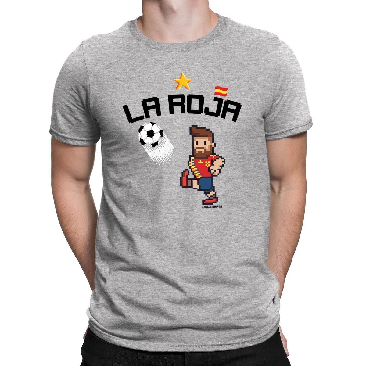 Acquista Pixel Da Spagna Con Shirt Mens T La Calcio Caricatura Roja EebYWDH29I