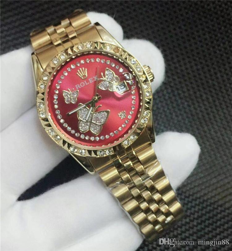 Compre Nuevo 2018 Reloj Clásico De Lujo Mujer Reloj Diamantes Top Marca  Cuarzo Relojes De Acero Inoxidable Relojes De Moda De Alta Calidad Para Las  Mujeres ... 003cf24269a5