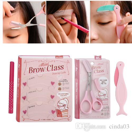 photograph relating to Printable Eyebrow Stencil identify 4computers/mounted Adorable Eyebrows Pencil Make-up Sets Eyebrow razor/stencil/Enhancer/Shaving Carding Eye Beauty Make-up Instruments For Females