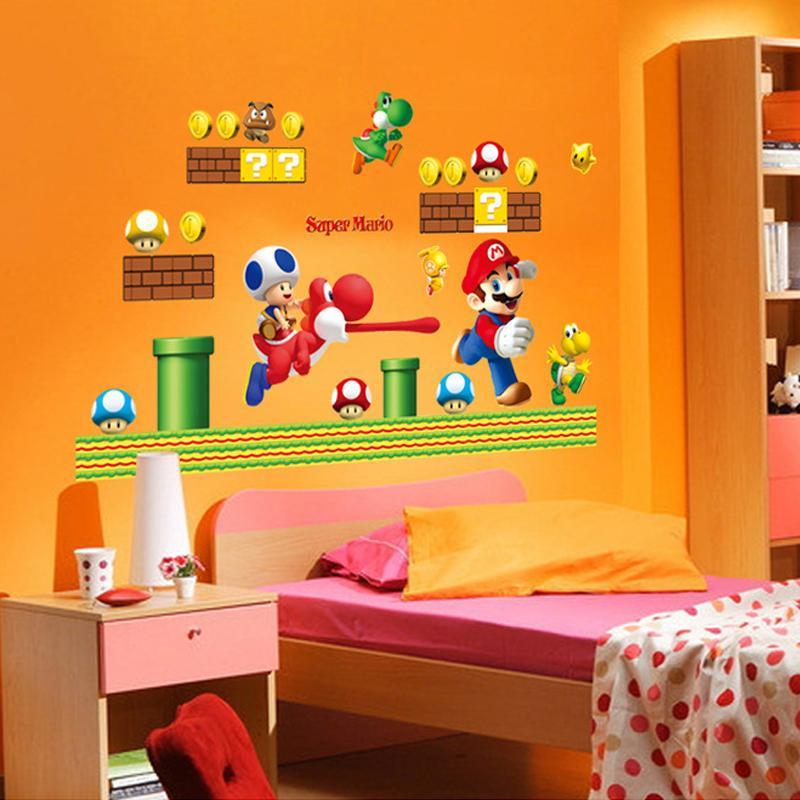 Acheter Stickers Super Mario Bros Autocollants Art Cartoon Stickers