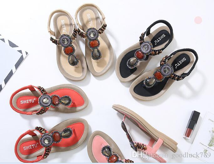 3a0e20a7711ff 2018 New European And American Models Sandals Think of Beaded ...