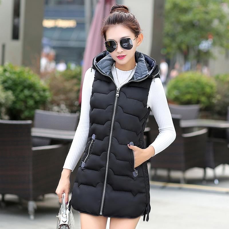 Fur Vest 2018 Hot Sale Real Solid Pockets Zippers Hooded Zipper Women Vest Ladies Jacket Long Winter Slim Plus Size Waistcoat